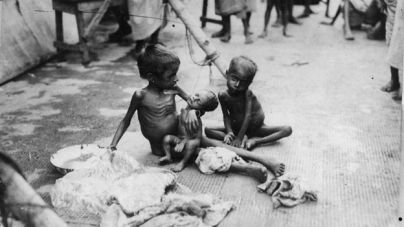 children starving from food during Bengal famine, Winston churchill