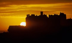 Sunset Edinburgh Castle - things to do in Edinburgh Scotland
