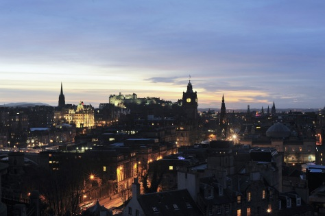 things to do in Edinburgh Scotland - Edinburgh City Night View
