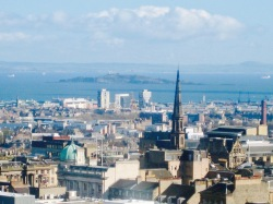 Skyview of Edinburgh from the Castle Rock.