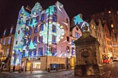 3D lighting at The-Grassmarket - things to do in Edinburgh Scotland
